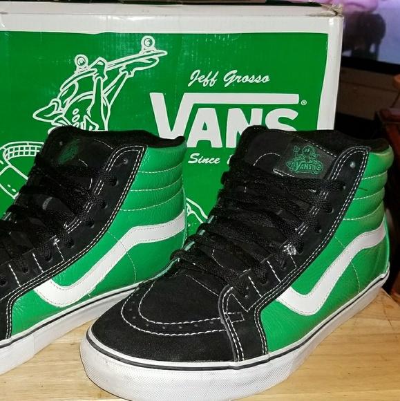 04848d3b15997e Vans SK8-HI Vert Grosso Pro Green Black White 12. M 5a8e2b5e8df470307a0836f1